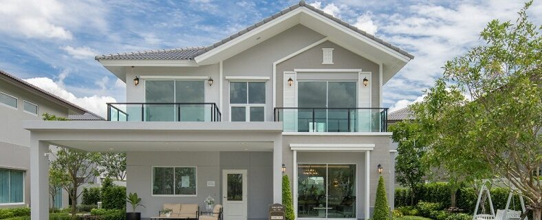 The first house is beautiful and luxurious.