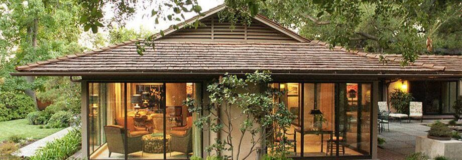 Beautiful shady garden house