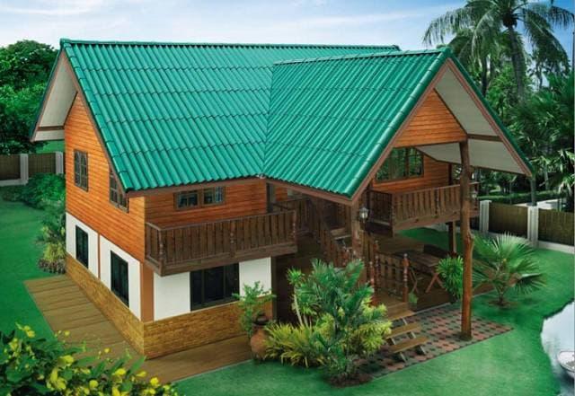 Half-timbered house, half-timbered, economical budget